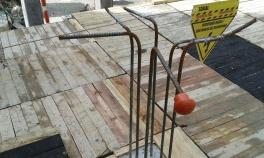 Protección de puntas salientes orden y aseo en obra